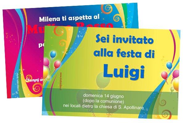 Stampa Inviti Di Compleanno Festa 18 Anni Festa A Tema